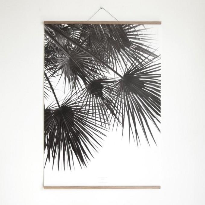"""nahili MAGNETISCHE POSTERLEISTE A4 """"Eco Click - On - Frame"""" Rahmen (inkl. Artprint) (Eiche, Ahorn, Nussbaum)"""