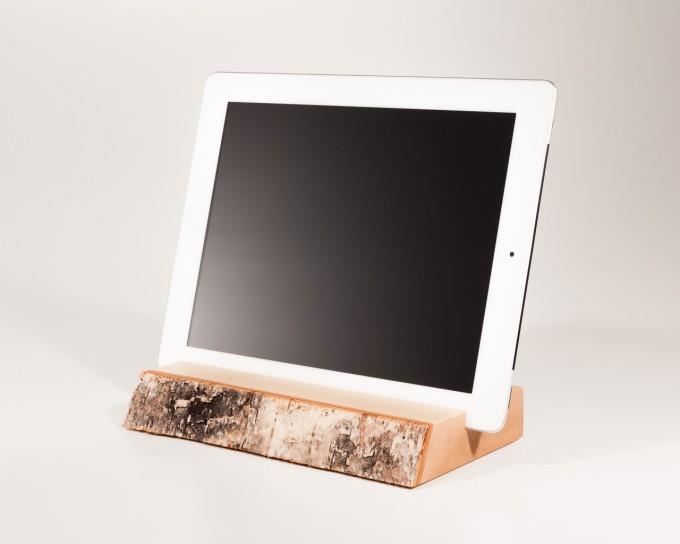 WOOD U? Halterung / Halter für iPad und Tablet aus Holz