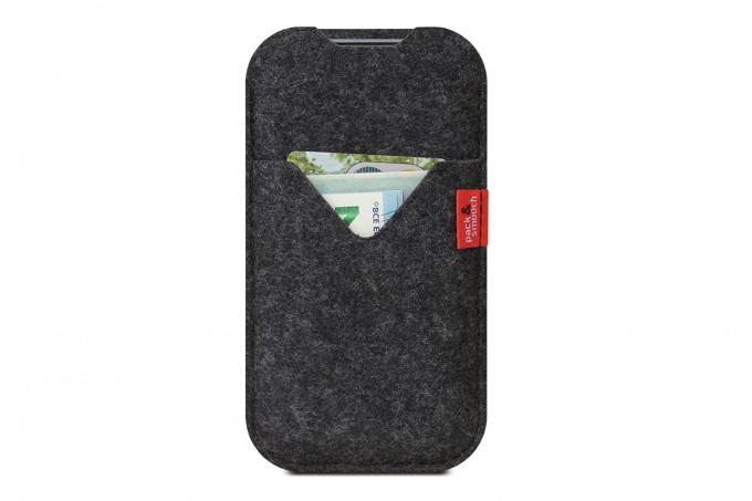 Pack & Smooch iPhone 11 / XR Hülle mit Kartenfach KIRKBY 100% Merino Wollfilz