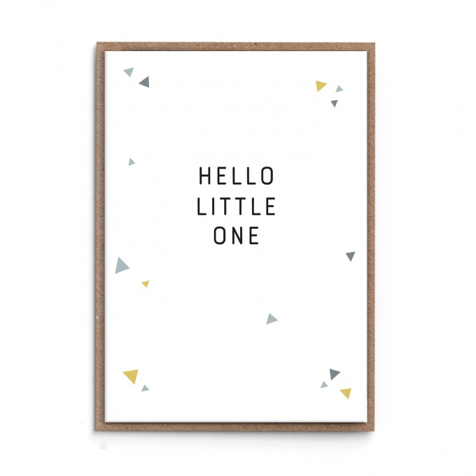 "sonst noch was? Grußkarte ""Hello Little One"" (grau)"