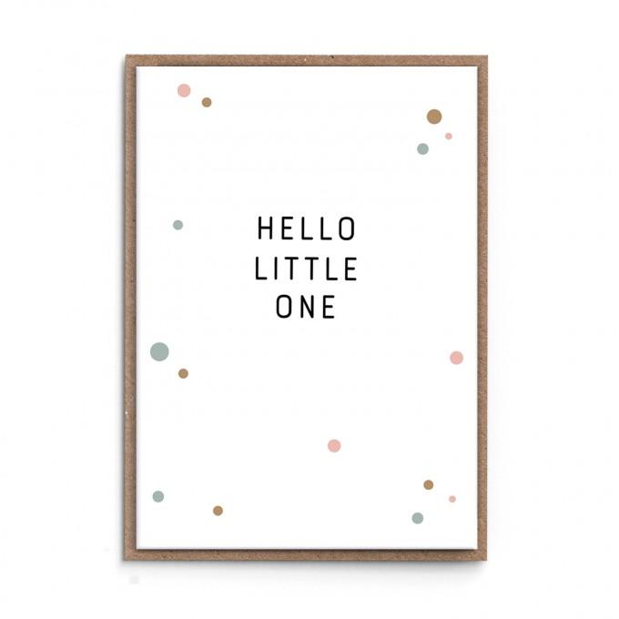 "sonst noch was? Grußkarte ""Hello Little One"" (rosé)"