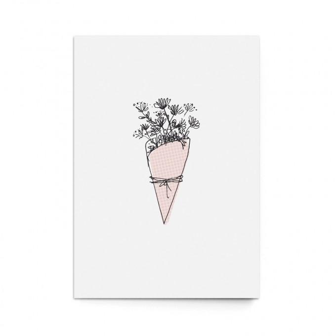 """sonst noch was? Postkarte """"Blumengruß"""" (3er Set)"""