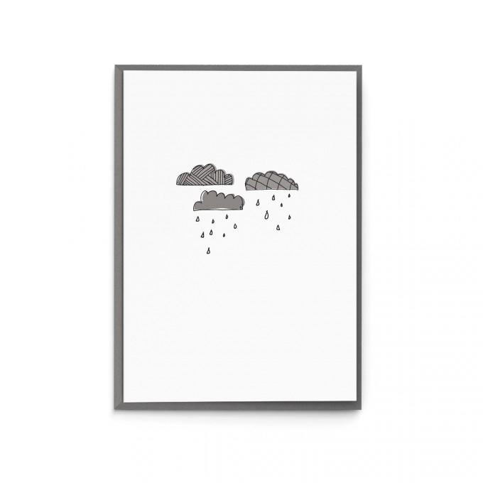 """sonst noch was? Grußkarte / Trauerkarte """"RegenTage"""""""