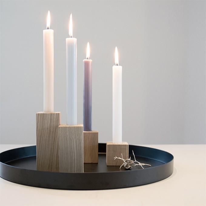 Daheim Sein – Kerzenblock / Adventskranz