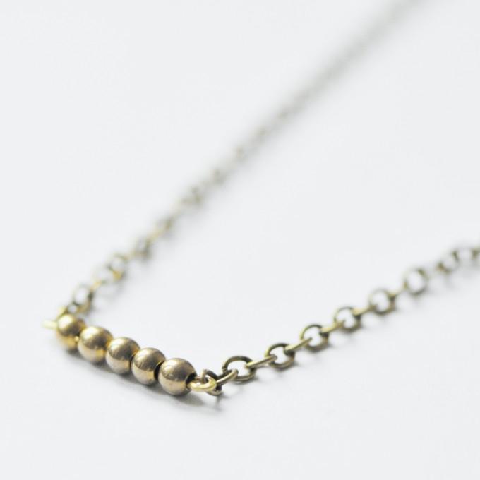 "nahili KETTE ""golden dots"" alt - gold bronze"