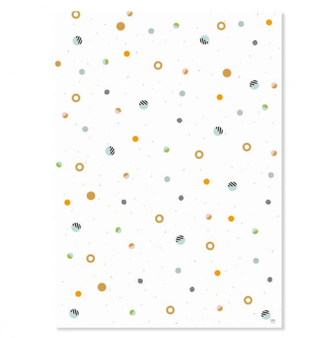 "Edith schmuckes Papier ""Konfetti"" 2 Bögen Geschenkpapier 50x70 cm"