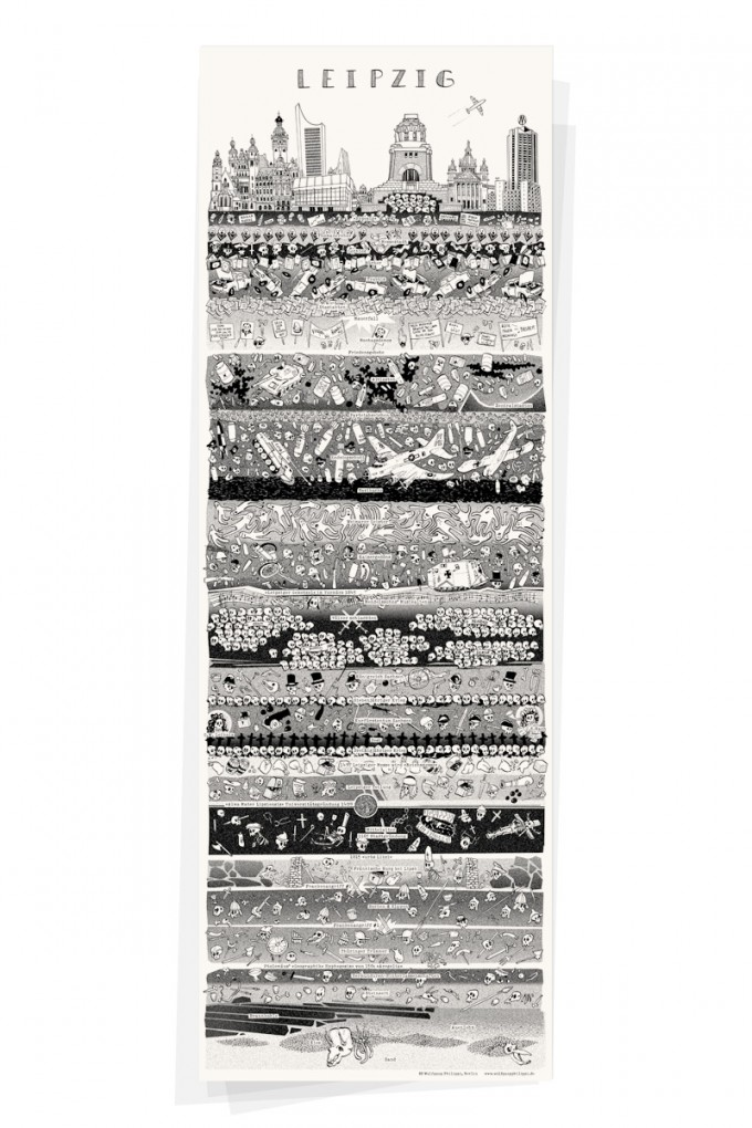 Wolfgang Philippi LEIPZIG PLAKAT 30x88 cm