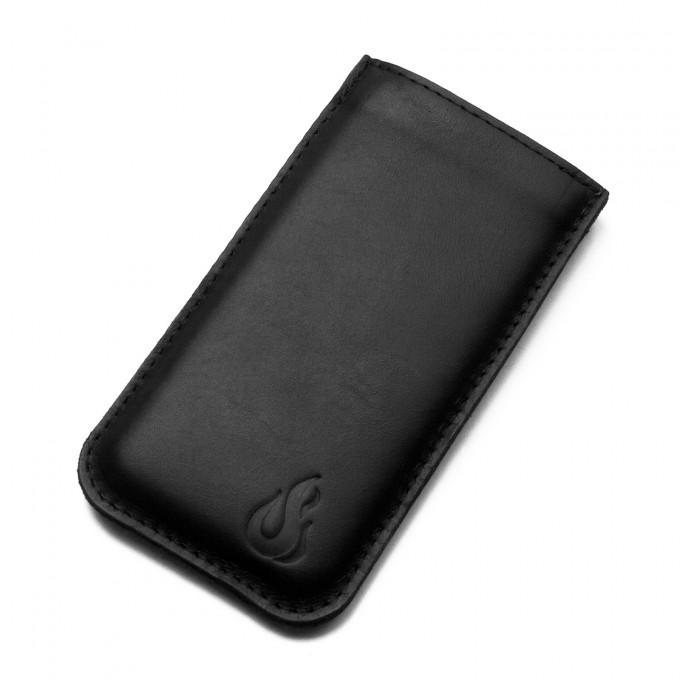 Hülle für iPhone 11 / XR - black (Leder) - Burning Love