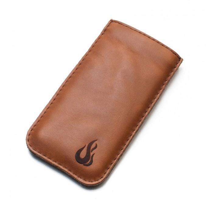 Hülle für iPhone 7 / iPhone 8 - cognac (Leder) - Burning Love