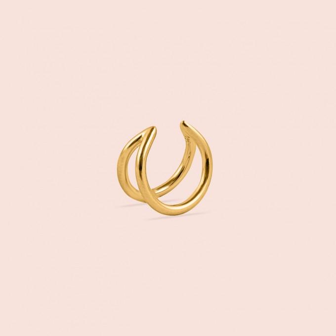 related by objects - lunar earcuff - 925 Sterlingsilber 18k goldplattiert