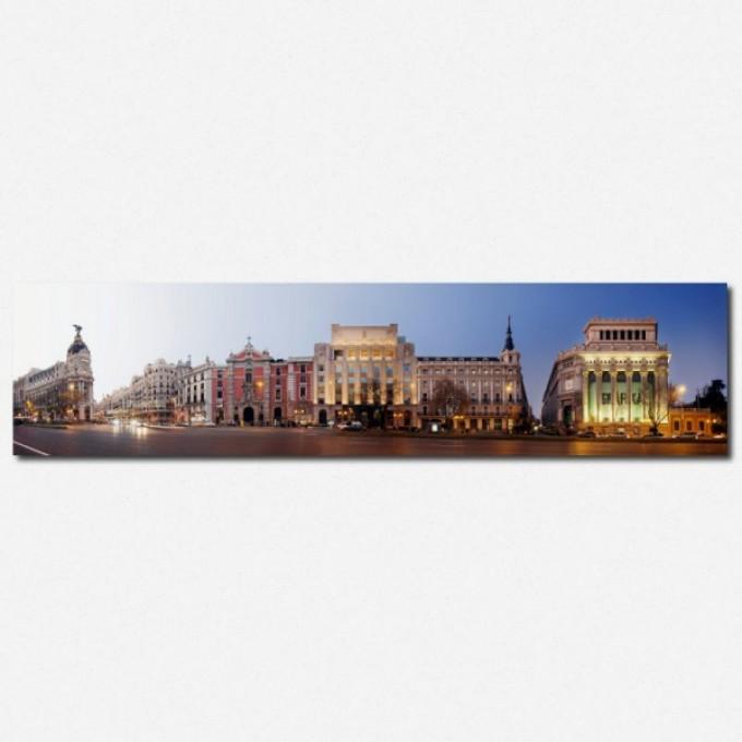 PanoramaStreetline Madrid Calle de Alcala Gallery Print