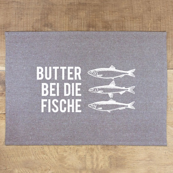 "Bow & Hummingbird Tischset ""Butter bei die Fische"" (4 Stück)"