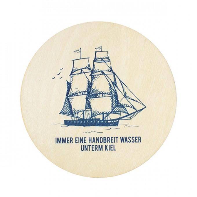 "Bow & Hummingbird Untersetzer ""Wasser unterm Kiel"" (4 Stück)"