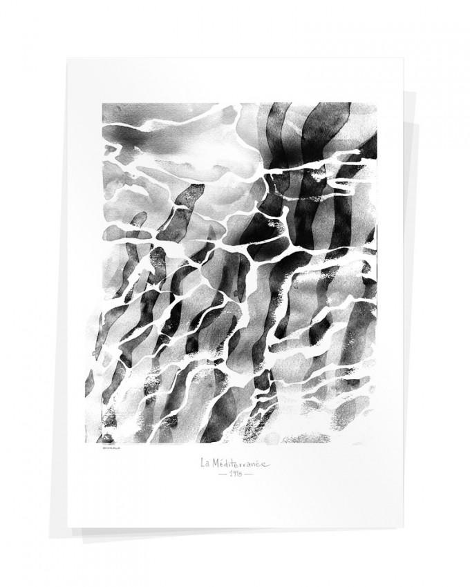 Wolfgang Philippi LA MÉDITERRANÉE 1998 70x100 cm