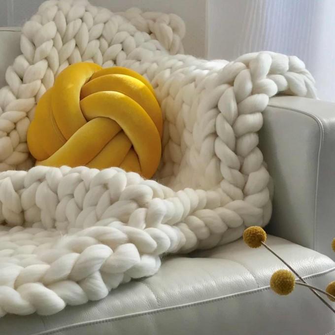 adorist. – Wolldecke Cosima Chunky Knit, weiß