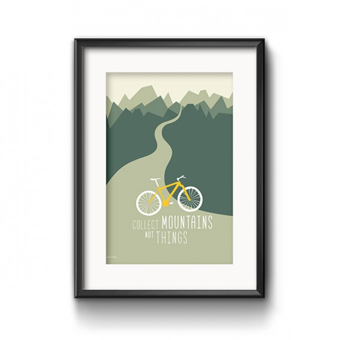 Roadtyping Mountainbike Print 30x40cm
