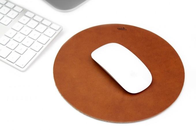 Leder Mousepad Rückseite mit Vakuum Folie