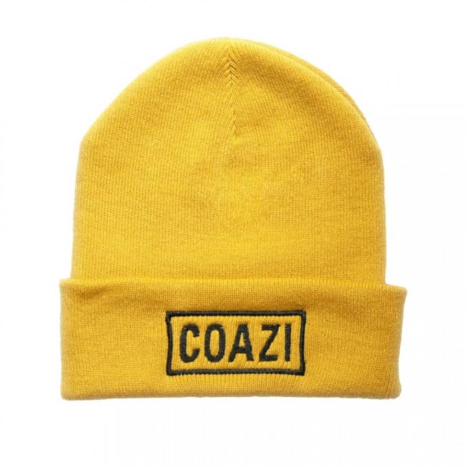 Coazi Label Beanie Mütze Mustard