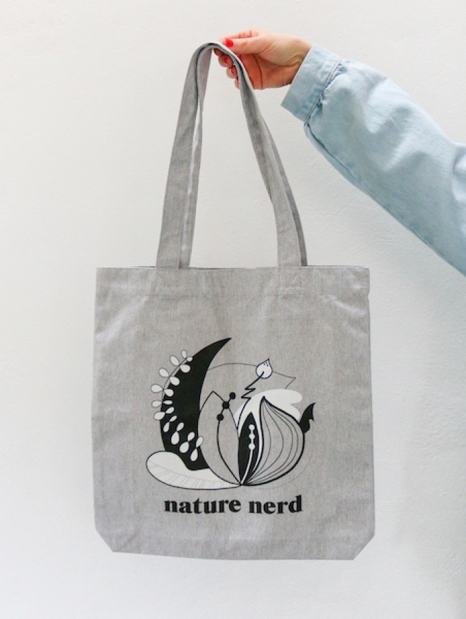 "stahlpink – ""nature nerd""-Jutebeutel"