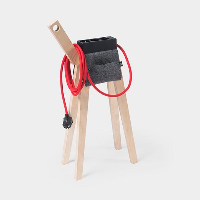 Njustudio Stromer –  Mobile Steckerleiste (Black Red)