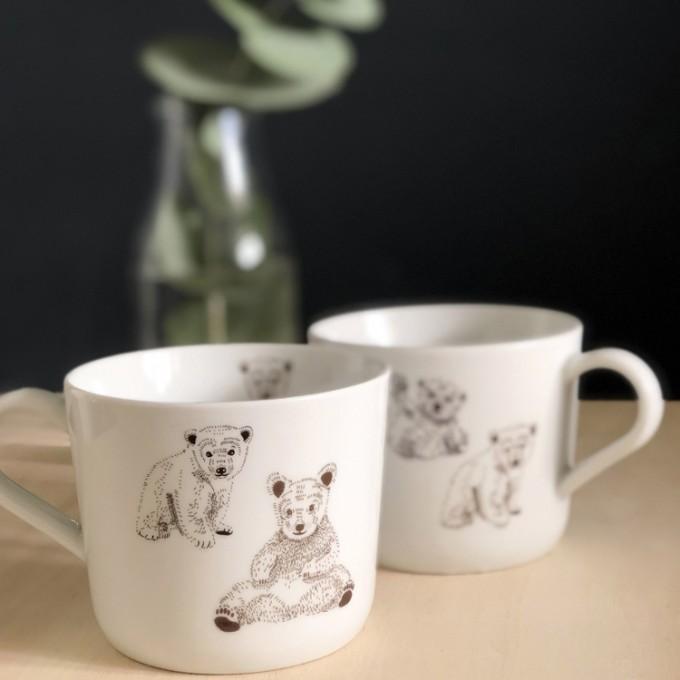 nuukk – Bären Porzellansticker