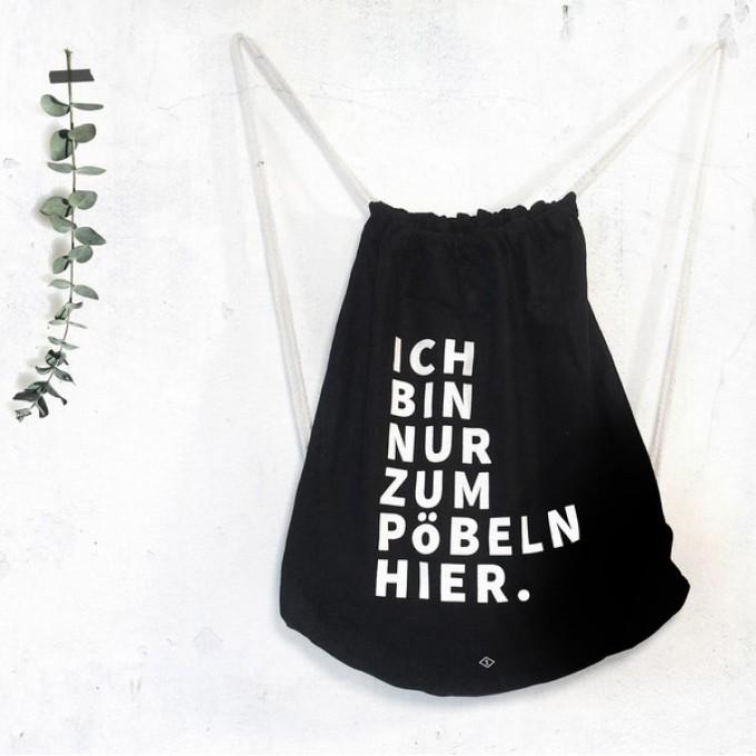typealive / Rucksack Turnbeutel Pöbeln schwarz