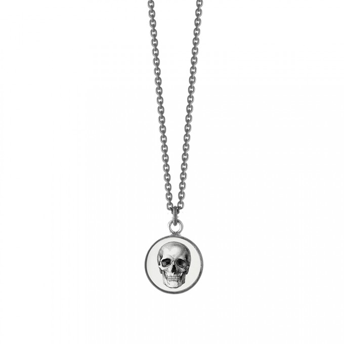 """anzu jewelry Halskette """"Schädel"""" geschwärzt"""
