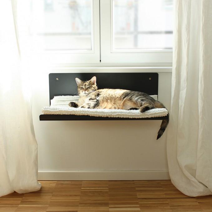 Katzenmöbel design sebastian frank pet board staight katzenmöbel aus metall