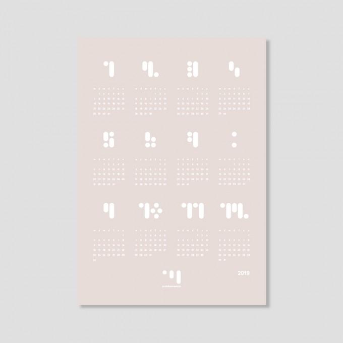 kalender 2019 almost mauve Designwandkalender