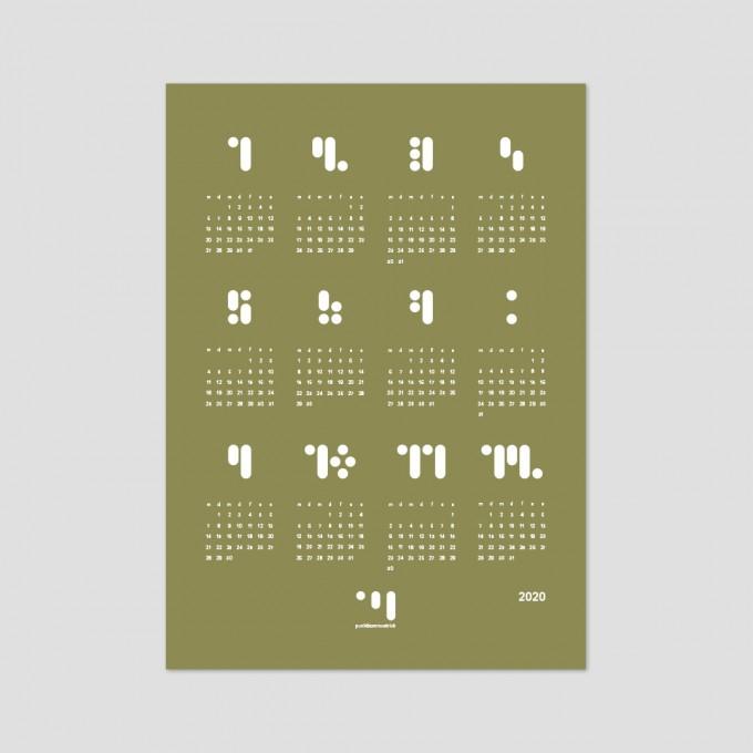 punktkommastrich - kalender 2020 greenolive Designwandkalender