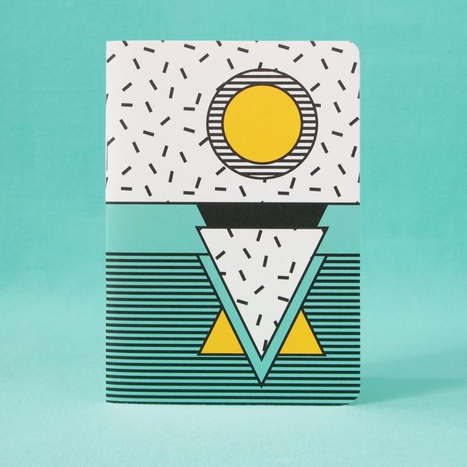 polypodium / Notizheft - A6 - I ♥ Memphis / turquoise
