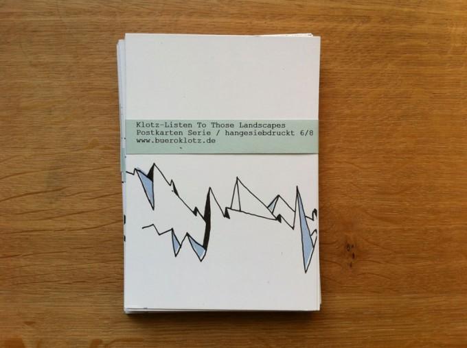 Klotz Listen To Those Landscapes Postkarten-Set (5 Stück)