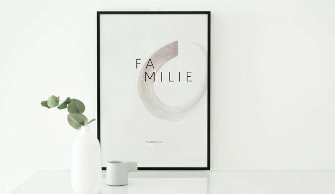 Daheim Sein – Poster Familie