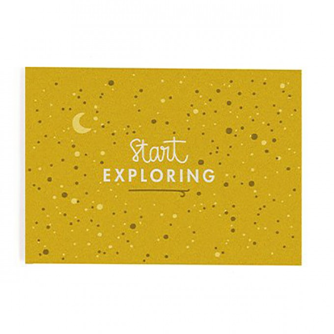 """Start exploring"" Postkarte von Roadtyping"