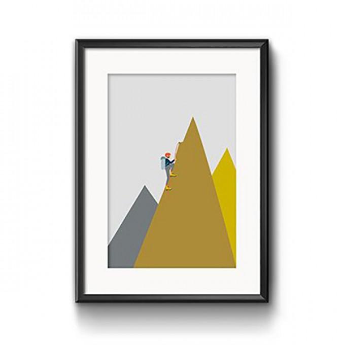 "Roadtyping Print ""Bergsteiger"" |30x40cm"