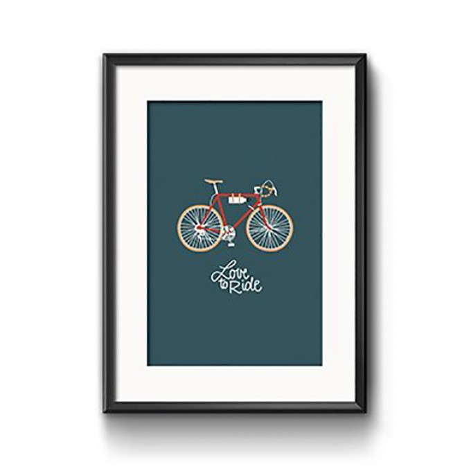 """Roadtyping Print """"Love to ride"""" 