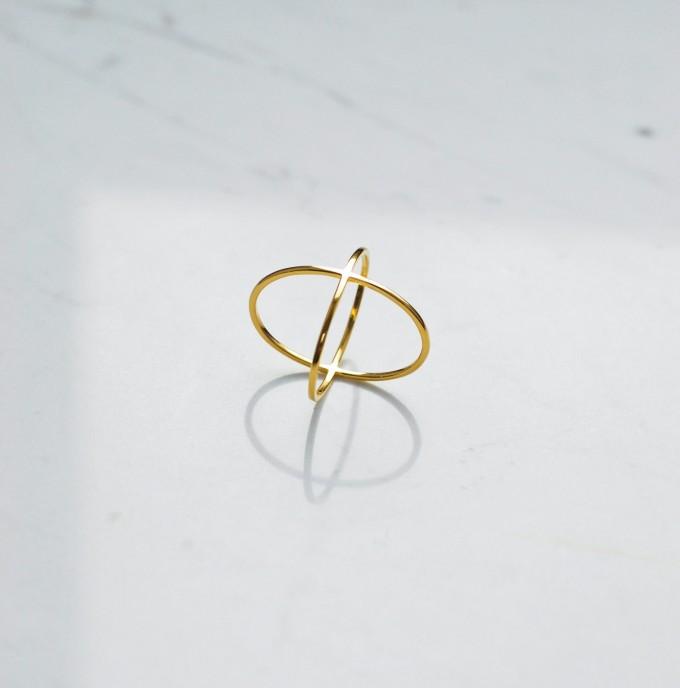 iloveblossom CROSSING OVER Ring // gold