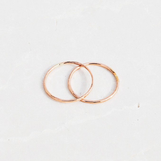 iloveblossom DELICATE FLOWER RING // rosé gold