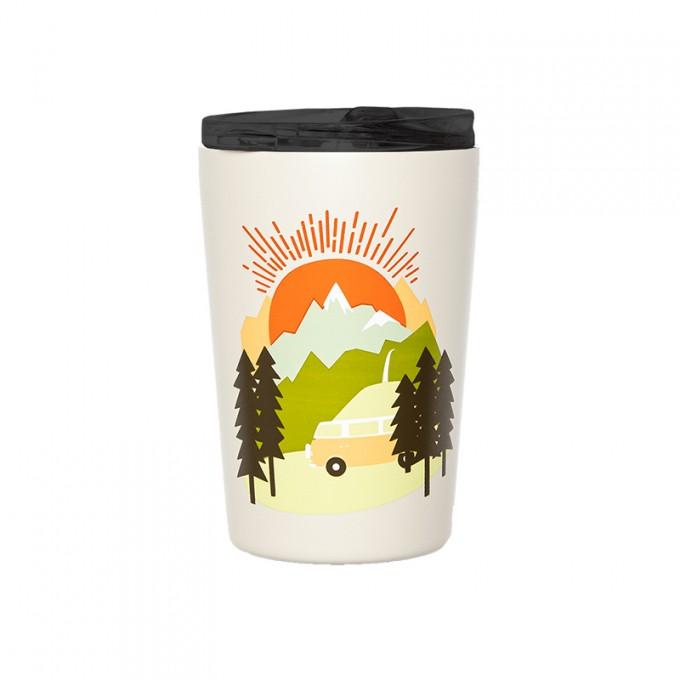 Roadtyping Isolierter Edelstahl Kaffee Becher - Let the Adventure begin