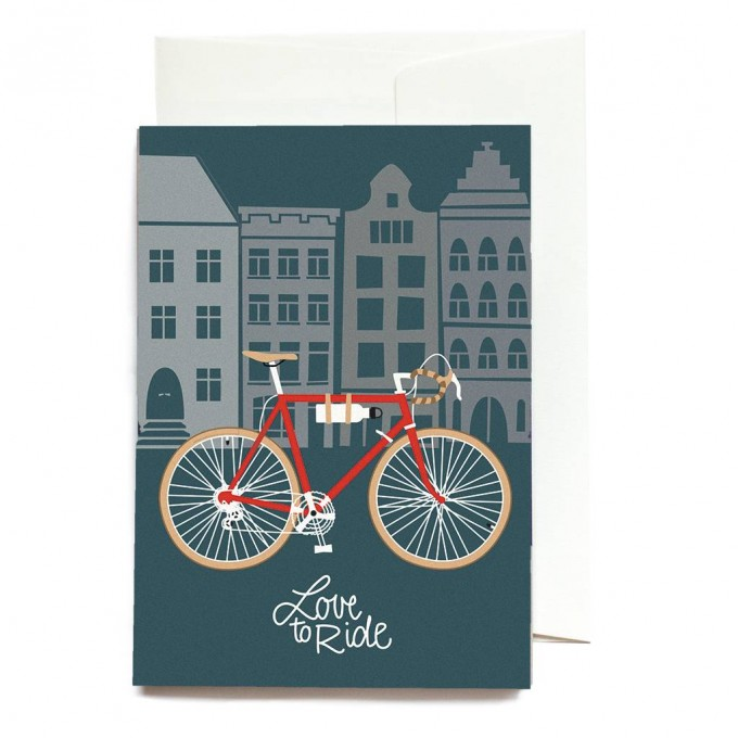 """""""Love to ride"""" Klappkarte von Roadtyping"""