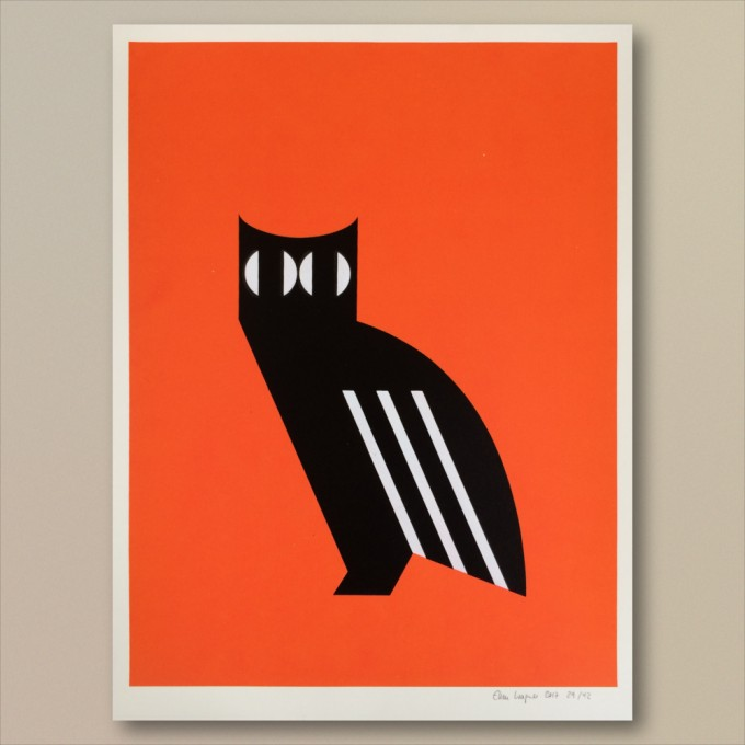 Print now - Riot later ● Abstract Owl Siebdruck