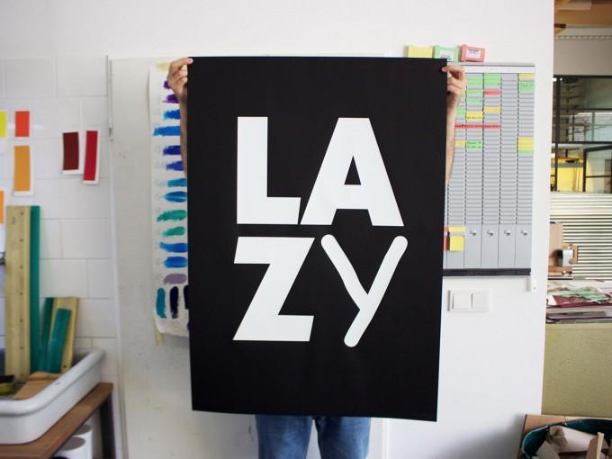 Donnie O'Sullivan — Lazy (Originalserigrafie 100x70 cm) Siebdruck