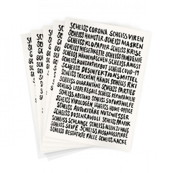 Wolfgang Philippi SCHEISS CORONA KARTE 5er-Pack