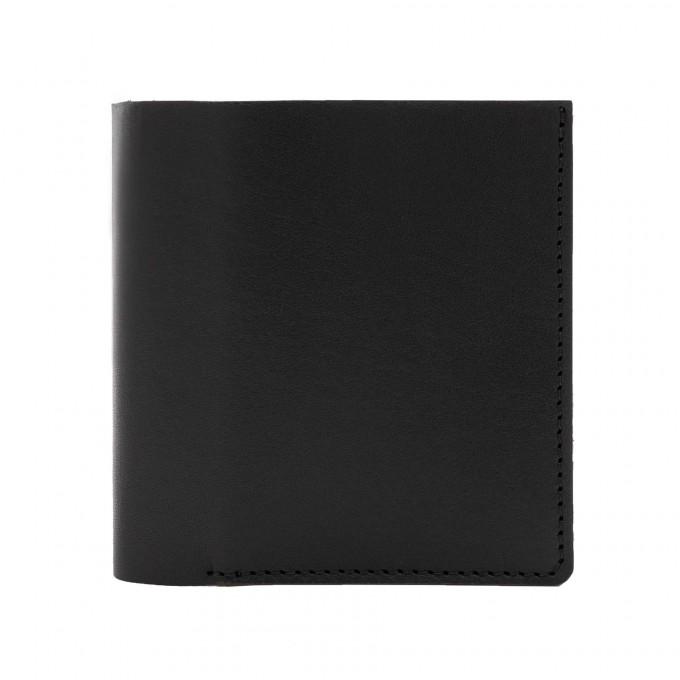 Faltbare Brieftasche in schwarz - aus premium pflanzlich gegerbtem Leder