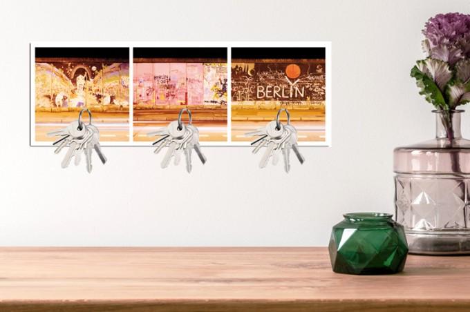 "TRILOGRAFIE Magnet Schlüsselbrett ""Eastside Gallery / Berliner Mauer"""