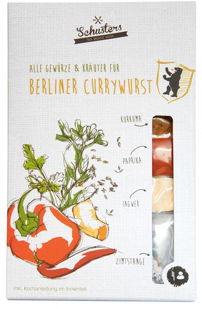 Alle Kräuter und Gewürze für Berliner Currywurst