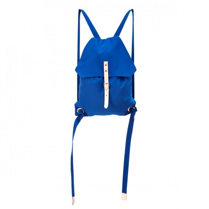 alva Django Recyclingrucksackaus wiederverwendetem Markisentuch/Leder (blau)