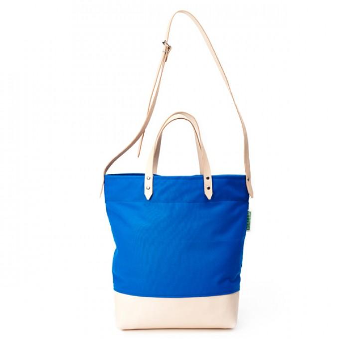 alva Luna Recyclingtasche  aus wiederverwendetem Markisentuch/Leder (blau)