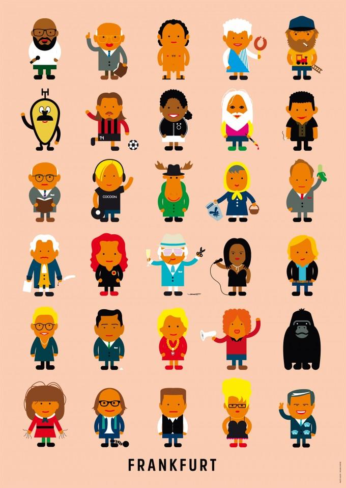 Human Empire Frankfurter Leute Poster