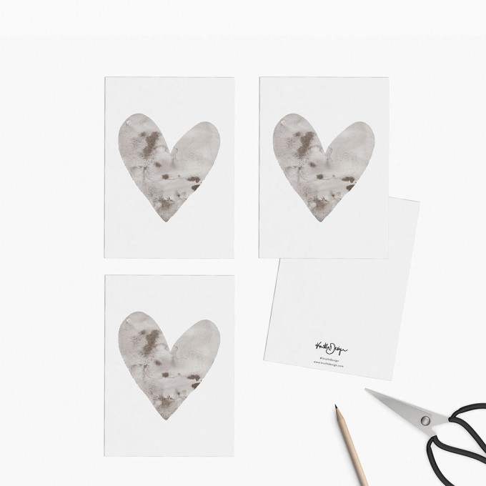 Kruth Design / POSTKARTEN SET HEART